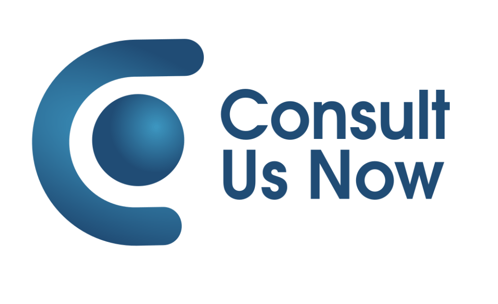 Consut us now logo